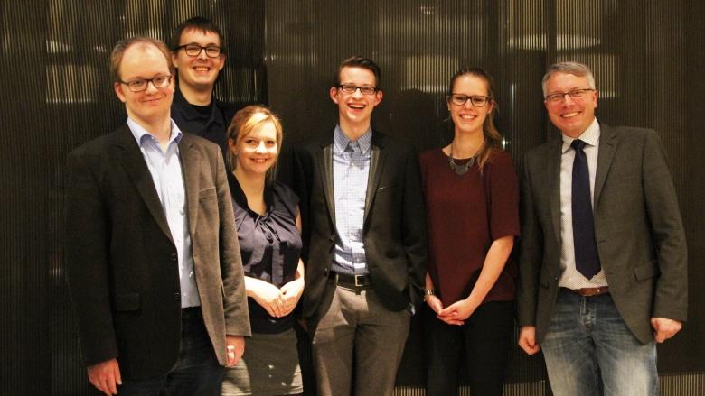 Der neue JU-Vorstand mit CDU-Chef Rüstemeier