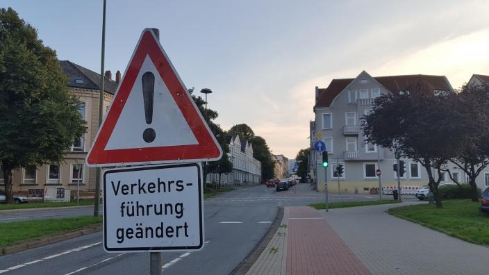 Husumer Straße: Verkehrsführung geändert