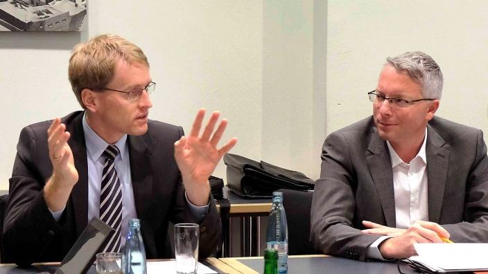 Daniel Günther und Arne Rüstemeier