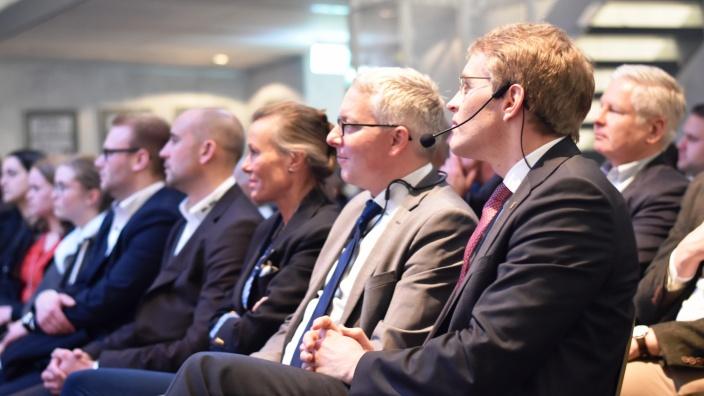 Landesvorsitzender und Ministerpräsident Daniel Günther in der Flensburger Phänomenta