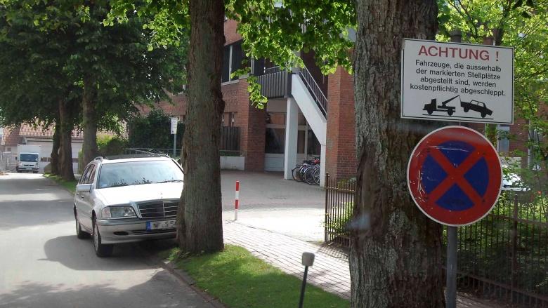 Falsch parken kann die Sicherheit gefährden