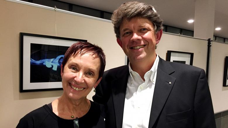 Preisträgering Stela Korljans mit Ansgar Hüning