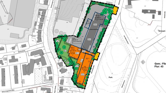 Bebauungsplan für die Flensburger Bahnhofstraße