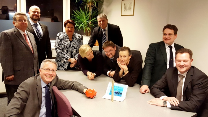 CDU-Ratsfraktion mit ihrem Beitrag zur Bürgerwette