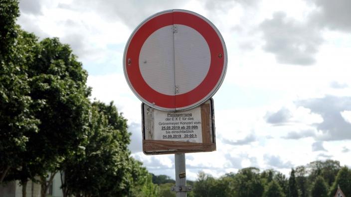 Hinweis auf der Exe: Einfahrt verboten?